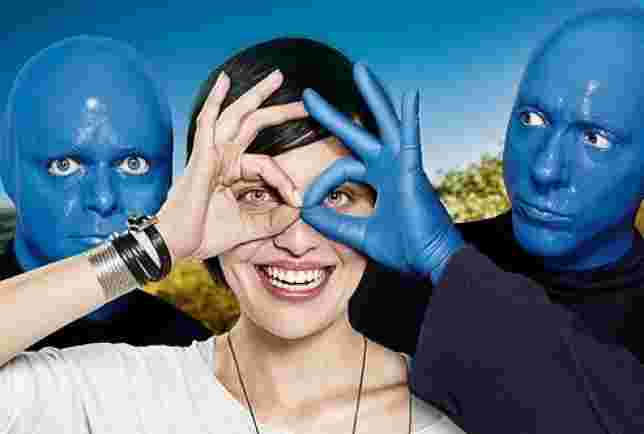 Campanha da TIM com o Blue Man Group